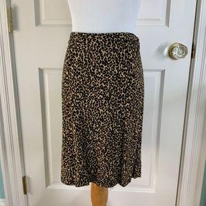 Ann Taylor Skirt Animal Print Size 2P
